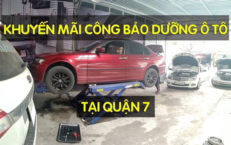 Khuyến mãi bảo dưỡng ô tô tại Gara Mechanic Auto – Quận 7