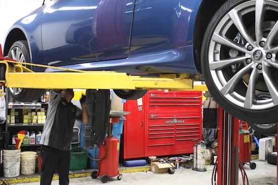 Garage bảo dưỡng xe Infiniti chuyên nghiệp