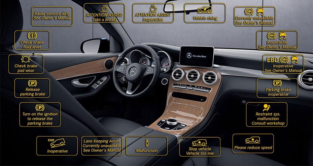 Những cảnh báo trên xe Mercedes-Benz có ý nghĩa gì?