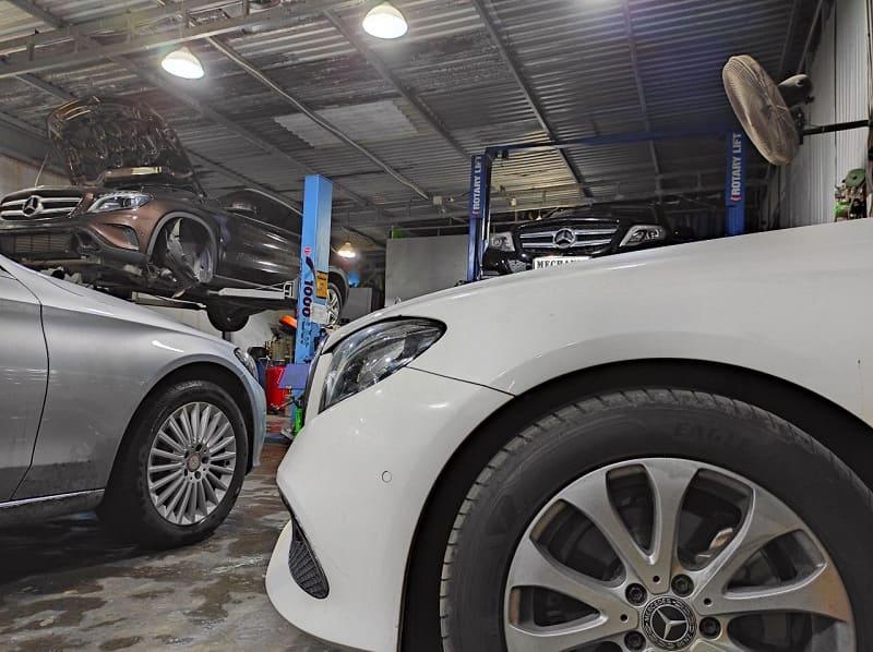 Garage sửa chữa Mercedes chuyên sâu tại TPHCM